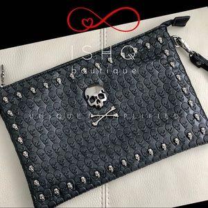 Frankie, Gothic Skull Messenger Bag, Carryall